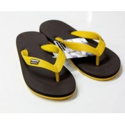 CHANCLAS BROWN YELLOW
