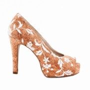CORK ROSE PEEP TOE