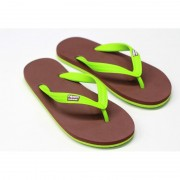 CHANCLAS CHOCOLATE VERDE